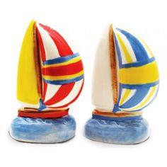 Sailboat Salt /& Pepper Shakers  water sailing boat nautical