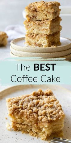 This Homemade Coffee Cake is incredibly delicious, easy to make, moist, and topped with a cinnamon streusel topping. The absolute BEST coffee cake you have ever had! Perfect for dessert, breakfast or brunch! Homemade Desserts, Homemade Cakes, Easy Desserts, Delicious Desserts, Dessert Recipes, Potluck Desserts, Recipes Dinner, Cupcake Recipes, Yummy Treats