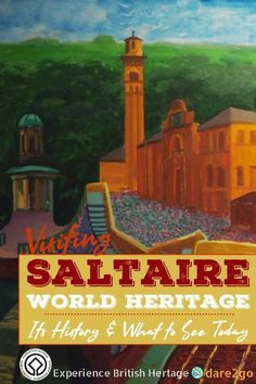 The village of Saltaire and its Salts Mill was a purpose-built industrial site – with a great vision and concept. This is the reason why it's World Heritage listed. We can thank three visionary men for this fascinating piece of history in Yorkshire. Actually four men, because nowadays Salts Mill owns the largest collection of art by David Hockney. Another good reason to visit Saltaire! #saltaire #worldheritage #yorkshire #england #history #IndustrialHeritage #traveltip #art #DavidHockney Travel Ireland Tips, Backpacking Ireland, Travel Tips For Europe, Travel Advice, Travel Guides, Travel Destinations, David Hockney, Yorkshire England, European Travel
