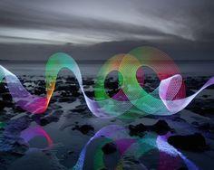 David Gilliver | Painted Neon Lights in Landscapes – Fubiz™