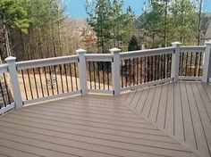 Trek decking with metal spindles