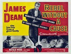 Rebel Without a Cause - Vintage Classic Movie Poster, classic posters, free download, free posters, free printable, graphic design, movies, printables, retro prints, theater, vintage, vintage posters, vintage printables
