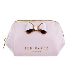 TED BAKER Trapeze bow patent wash bag (Pale pink