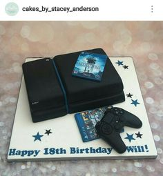 Playstation Cake Ps3 Ps4 Computer Sport Cakes Game Party