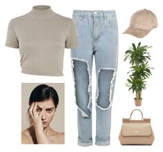 """""""Sin título #486"""" by caro-medi-romero ❤ liked on Polyvore featuring WearAll, River Island, Dolce&Gabbana and Nearly Natural"""