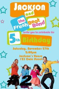 Fresh Beat Band Photo Birthday Invitation You by Littletotsinvites, $10.00
