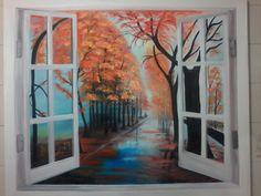 A janela aberta para o belo, Pintura em óleo , uma das minhas paixões!