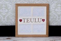 Ffrâm Cymraeg Teulu Welsh 'Family' frame by CornelDawn on Etsy