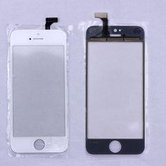Pas cher Noir/Blanc Écran Tactile Digitizer Avant Panneau D'affichage Lentille en verre pour iphone 5 5g Mobile Téléphone Accessoires Livraison gratuite