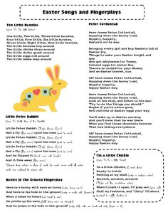 Mrs Home Ec: Easter Songs and Fingerplays - better late than never