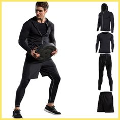 Vansydical New Men Compression Sport Suits Tights Skins Base Layers Basketball Shirts Pants For Gym Fitness Running Sets – Direct Factory Price Store Basketball Shirts, Basketball Compression Pants, Basketball Outfits, Basketball Court, Tailor Made Suits, New Man, Gym Workouts, Workout Gear, Gym Fitness