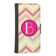 NEW!! #Monogram, Pastel #Chevron #iPhone 5/5S #Wallet Case. Also available in #Samsung #Galaxy S4 version.