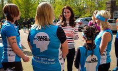 Catherine praises Harry's 'brilliant' interview as she meets Heads Together marathon runners