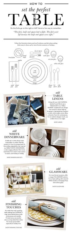 How To Set a Formal Table | Pottery Barn