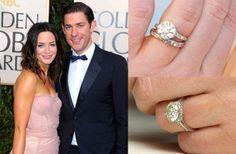 pretty Edwardian-style 3-ct ring, platinum (Neil Lane)