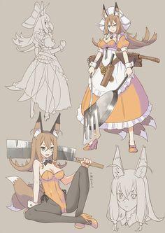 Female Character Design, Character Design Inspiration, Character Concept, Character Art, Concept Art, Dnd Characters, Fantasy Characters, Anime Fantasy, Fantasy Art