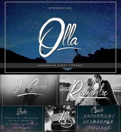 Olla typeface a handbrushed script signature style. It suites, for signature, logo marks, posters, packaging design, and any other quotes design. Free for download. File format: .otf, .ttf for Photoshop or other software. File size: 1 Mb.