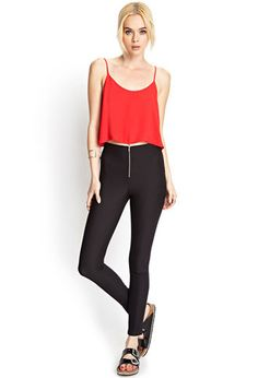 Ribbed Riding Pants | FOREVER21 - 2000069282