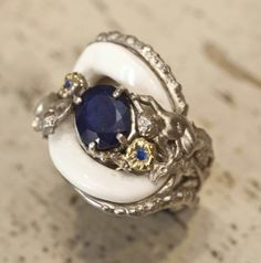 Navy blue and white #jewlery #rings #gioielli #giuseppinafermi #accesories #madeinitaly