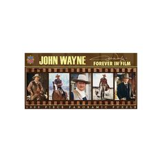 MasterPieces John Wayne: Forever in Film 1,000-pc. Panoramic Jigsaw Puzzle, Multicolor