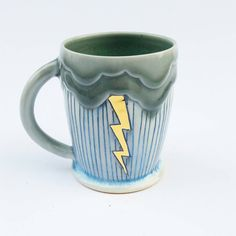 MADE TO ORDER Cloudy Rain Lightning by SilverLiningCeramics
