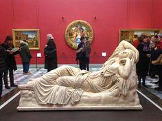Arianna addormentata - Firenze, Galleria degli Uffizi, Sala Michelangelo - nuovo allestimento (foto Valentina Grandini)