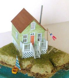 1/144th Scale Kit - Beach House : Tower House Dolls, Miniature toys & dolls
