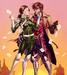 Rogue and Gambit Heroic Age cover.