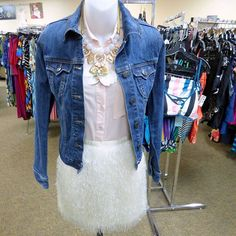 Cute goal looks for spring Old Navy denim jacket size XS $12 Sansouci pink top size S $6 NEW Stella & Dot neon necklace $12.50 and NEW H&M cream skirt size XS $7.50 .  .  TODAY AND TOMORROWfrom 12-7pm join us for BEACH PARTY BINGO!  If you win you can take $25 off a $50 purchase.  Join us for food fashion and fun!  .  .  Gotta have it? We do phone orders! Call: 610-455-1500 or  Shop: 1369 Wilmington Pike Hours: Mon- Sat: 10-8 Sun: 12-6  We ship and deliver free to our sister stores…