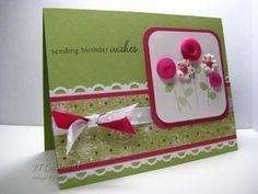 Cute hand-made birthday card ...