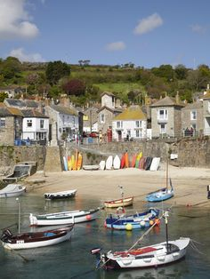 Photographic Print: Boats in Mousehole Harbour, Near Penzance, Cornwall, England by David Wall : Cornwall England, Devon And Cornwall, England Uk, Oxford England, Yorkshire England, Yorkshire Dales, London England, Great Places, Places To See