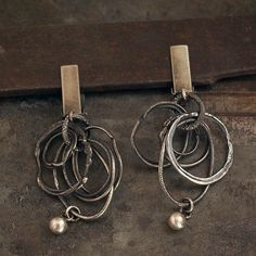 USE CODE • SALE 10 - 15 % off • raw silver circle clip on earrings • oxidized silver • Mother's Day Gift for her Birthday Gift by ewalompe on Etsy https://www.etsy.com/listing/265733191/use-code-sale-10-15-off-raw-silver