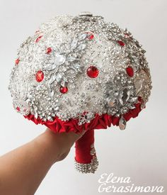 Hey, I found this really awesome Etsy listing at http://www.etsy.com/listing/173406516/brooch-bouquet-red-bouquet-unique