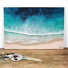 "9fe183e412 Christel Astakhoff Art on Instagram: ""Should I stop here or paint one more  wave above those 3? 🤔 . . . . . . . . . #artistofinstagram #oceanart ..."