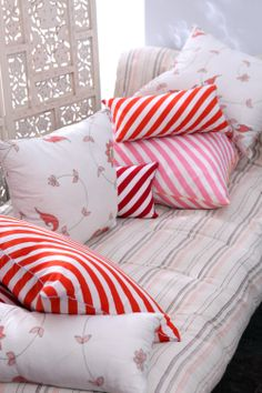 HOLY STRIPE & ARABESQUES CUSHION COVERS Group picture