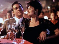 Ray Liotta and Lorraine Bracco in Goodfellas Goodfellas Quotes, Goodfellas 1990, Ray Liotta, Mafia, Bobby Vinton, Gangster S, Crime Film, The Best Films, Iconic Movies
