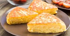 Buy potato tortilla pieces in clay dish on wood by Jultud on PhotoDune. potato tortilla pieces in clay dish on wood Tortillas, Cornbread, Brunch, Cooking Recipes, Dishes, Ethnic Recipes, Desserts, Food, Omelettes