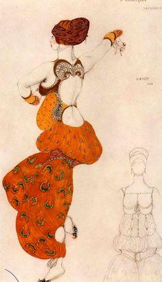Baskt/ Ida Rubinstein in Scheherazade