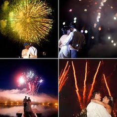 LOVE fireworks at a #wedding