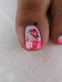 Uñas Pedicure Designs, Pedicure Nail Art, Toe Nail Designs, Toe Nail Art, Elegant Nail Art, Beautiful Nail Art, Baseball Nails, Cute Toe Nails, Painted Toes