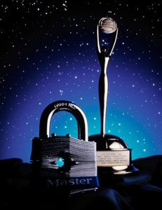 """1983 - Master Lock won the CLIO award, the advertising industry's equivalent to the OSCAR, for its new television commercial """"Doubters""""."""
