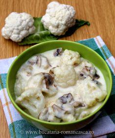 Mancare de conopida cu ciuperci