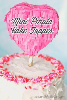 Oh Hello, Love: DIY: Mini Piñata Cake Topper
