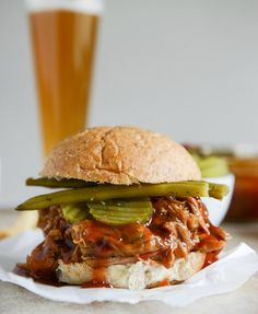 saucy pulled pork sandwiches I howsweeteats.com