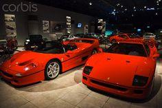 Jordan, Amman, Royal Automoblie Museum, Ferrari F-40 sportscars of King Hussein