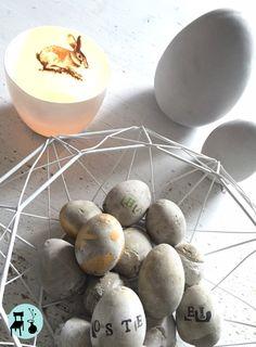 Coole #Osterdeko aus Beton, schnell nachmachen und schauen auf http://www.homestylelog.blogspot.de/