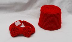 Crochet Doctor Who Inspired Fez and bow tie set by NLovingHandZ, $15.00