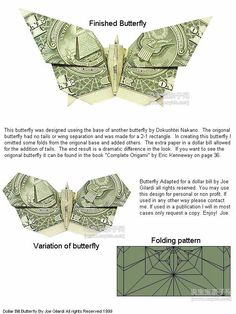 origami money butterfly 3