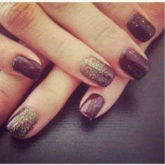 #shellac #nails #looseglitter I did these on one of the best clients in the world! Love them!!