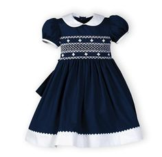 Navy and White Classics Short Sleeved Dress - Wooden Soldier